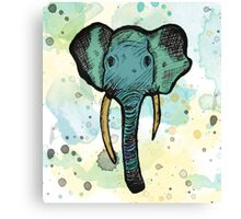 Watercolor Elephant Canvas Print