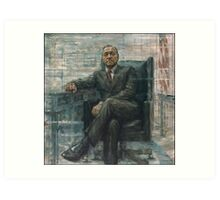 Frank Underwood House of Cards Painting Art Print