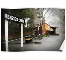 Menzies Creek Station Victoria Poster
