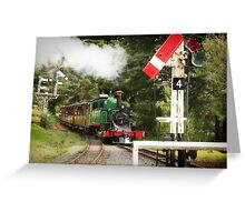 Approaching Menzies Creek Station Greeting Card