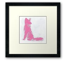 Pink Finger Painted Arctic Fox Framed Print