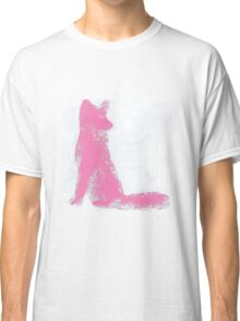 Pink Finger Painted Arctic Fox Classic T-Shirt