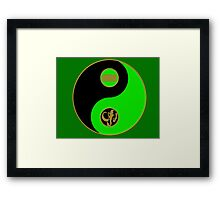 Adam's Ranger Power Yin Yang Framed Print