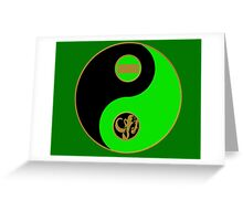 Adam's Ranger Power Yin Yang Greeting Card