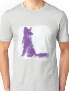 Purple Finger Painted Arctic Fox Unisex T-Shirt