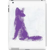 Purple Finger Painted Arctic Fox iPad Case/Skin