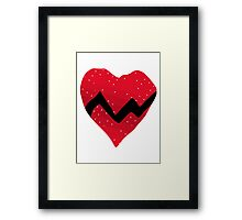 Kanye West 808s & Heartbreaks Heart Framed Print