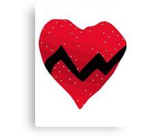 Kanye West 808s & Heartbreaks Heart Canvas Print