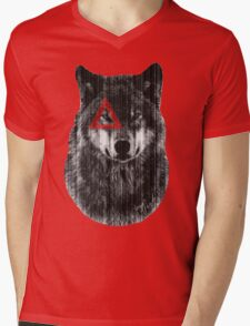 Wolf. Mens V-Neck T-Shirt