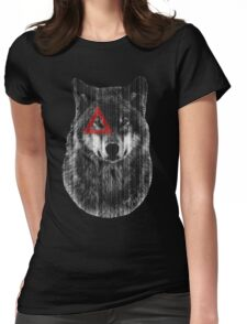 Wolf. Womens Fitted T-Shirt