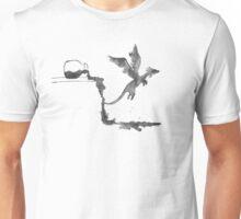 Spilled Ink Dragon Unisex T-Shirt