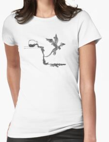 Spilled Ink Dragon Womens Fitted T-Shirt