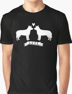 Australian Cattle Dogs in Love Graphic T-Shirt