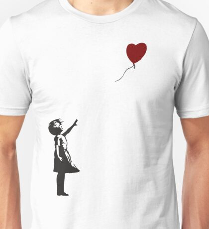 Banksy- Girl with Heart balloon.  Unisex T-Shirt