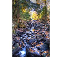 Rocky riverbed Photographic Print