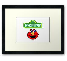 Shakedown on Sesame Street Framed Print