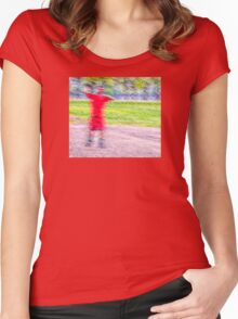 Sandlot Football Women's Fitted Scoop T-Shirt