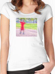 Sandlot Football Women's Fitted Scoop T-Shirt
