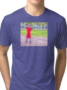 Sandlot Football Tri-blend T-Shirt