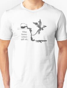 Spilled Ink Fantasy Dragon Unisex T-Shirt