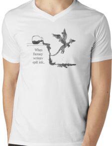 Spilled Ink Fantasy Dragon Mens V-Neck T-Shirt
