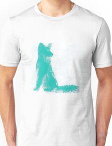 Teal Finger Painted Arctic Fox Unisex T-Shirt