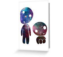 Princess Mononoke Tree Spirits Galaxy Greeting Card