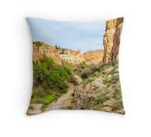 House on Top of a Hill Throw Pillow
