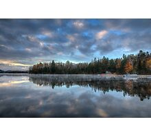 Reflected trees and sky Photographic Print