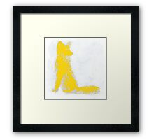 Yellow Finger Painted Arctic Fox Framed Print