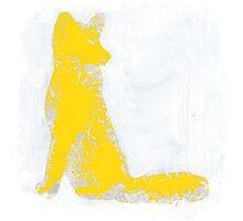 Yellow Finger Painted Arctic Fox Photographic Print