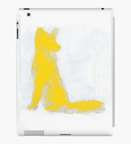Yellow Finger Painted Arctic Fox iPad Case/Skin