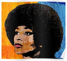 ANGELA DAVIS (COLOR) Poster
