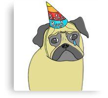 Pug Birthday Canvas Print