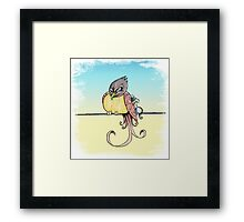 Wrong Side of the Perch Framed Print