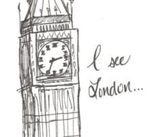 i see london... Sticker