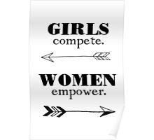 Girls Compete, Women Empower Poster