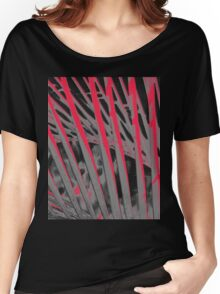 Pandanas Black & Red Women's Relaxed Fit T-Shirt