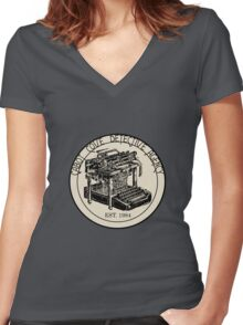 Cabot Cove Detective Agency Women's Fitted V-Neck T-Shirt