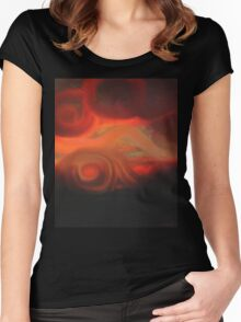 Sunset of Lost Souls  Women's Fitted Scoop T-Shirt