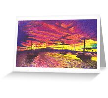 Christiansted Sunset for Dad Greeting Card