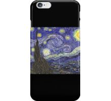 'Starry Night' by Vincent Van Gogh (Reproduction) iPhone Case/Skin