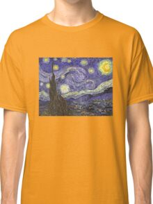 'Starry Night' by Vincent Van Gogh (Reproduction) Classic T-Shirt