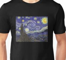 'Starry Night' by Vincent Van Gogh (Reproduction) Unisex T-Shirt