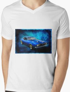 Feelin' Blue Mens V-Neck T-Shirt