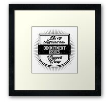 Elf Boyfriend Framed Print