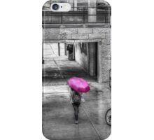 Girl with the Pink Umbrella iPhone Case/Skin