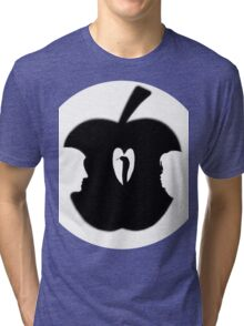 FORBIDDEN--TEMPTATION...ADAM & EVE--APPLE--SERPENT.-JOURNAL-.PICTURE-PILLOW-TOTE BAG-CELL PHONE COVERS ECT. Tri-blend T-Shirt