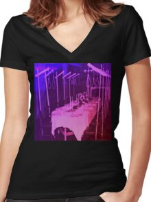 A birthday party  Women's Fitted V-Neck T-Shirt