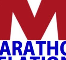 Marathon Relations  Sticker